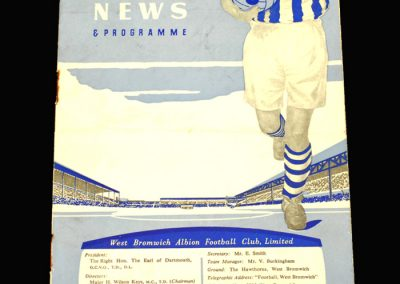 West Brom v Sheff Wed 18.01.1958