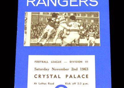 Crystal Palace v QPR 02.11.1963