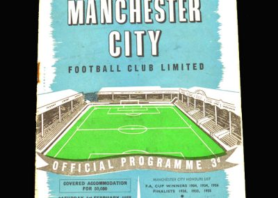 West Brom v Man City 01.02.1958