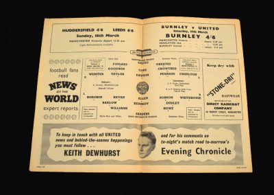 West Brom v Man Utd 05.03.1958 FA Cup 6th Round Replay