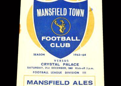 Crystal Palace v Mansfield 21.12.1963