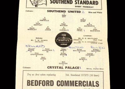 Crystal Palace v Southend 26.12.1963