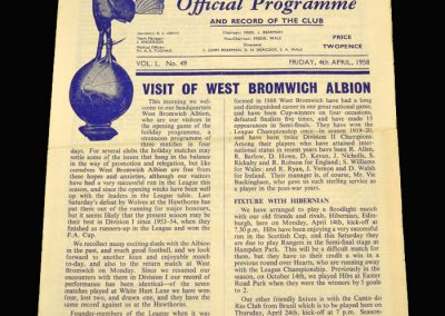 West Brom v Spurs 04.04.1958