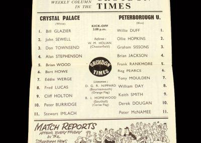 Crystal Palace v Peterborough 25.01.1964