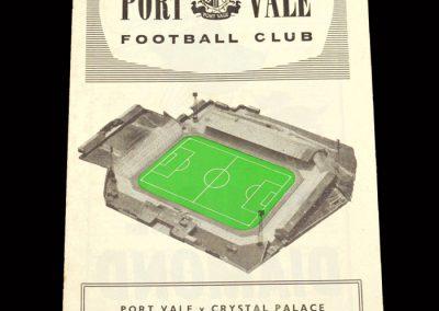 Crystal Palace v Port Vale 08.02.1964