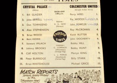 Crystal Palace v Colchester 29.02.1964
