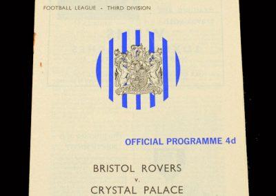 Crystal Palace v Bristol Rovers 07.03.1964
