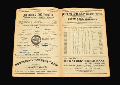 Preston v Everton 01.09.1958