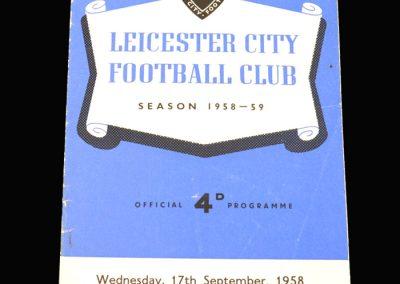 Preston v Leicester 17.09.1958