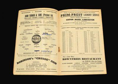 Preston v Birmingham 20.09.1958
