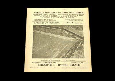 Crystal v Wrexham 22.04.1964