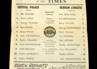 Crystal Palace v Oldham 25.04.1964