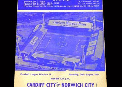 Cardiff v Norwich 24.08.1963