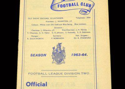 Cardiff v Scunthorpe 30.08.1963