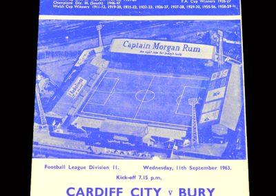 Cardiff v Bury 11.09.1963