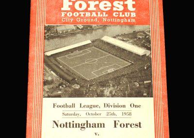Preston v Notts Forest 25.10.1958
