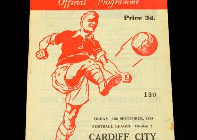 Cardiff v Rotherham 13.09.1963