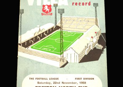 Preston v Aston Villa 22.11.1958