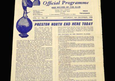 Preston v Spurs 06.12.1958