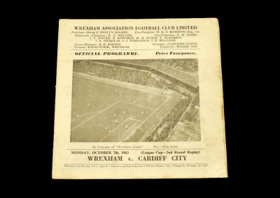 Cardiff v Wrexham 07.10.1963 - League Cup 2nd Round Replay