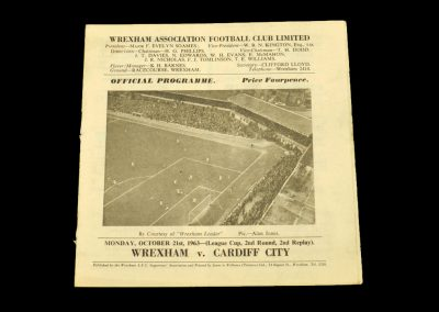 Cardiff v Wrexham 21.10.1963 - League Cup 2nd Round 2nd Replay