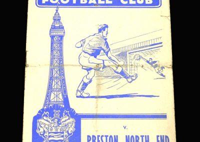 Preston v Blackpool 25.12.1958