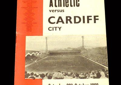 Cardiff v Charlton 26.10.1963
