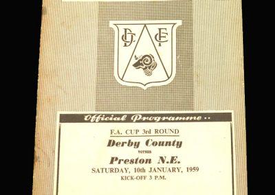 Preston v Derby 10.01.1959 FA Cup 3rd Round