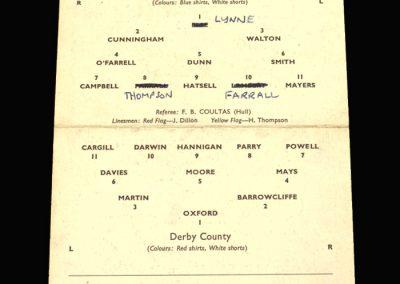 Preston v Derby 19.01.1959 FA Cup 3rd Round Replay