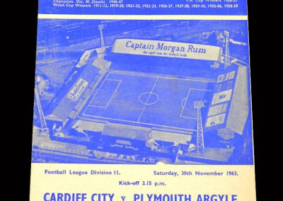Cardiff v Plymouth 30.11.1963