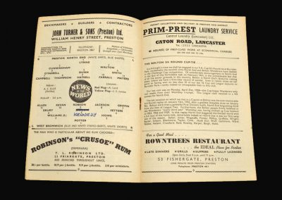 Preston v West Brom 31.01.1959