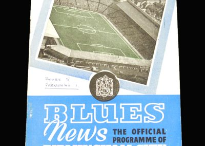 West Brom v Birmingham 07.02.1959