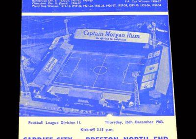 Cardiff v Preston 26.12.1963