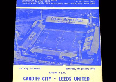 Cardiff v Leeds 04.01.1964 - FA Cup 3rd Round