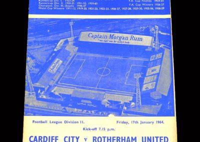 Cardiff v Rotherham 17.01.1964