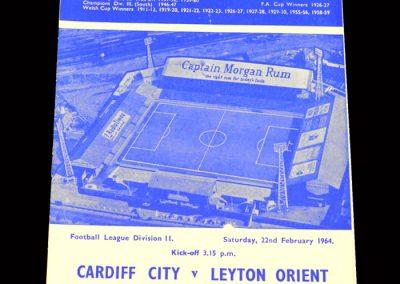 Cardiff v Leyton Orient 22.02.1964