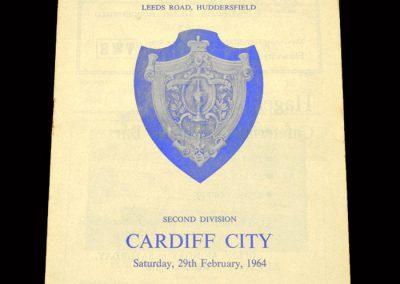 Cardiff v Huddersfield 29.02.1964
