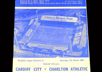 Cardiff v Charlton 07.03.1964