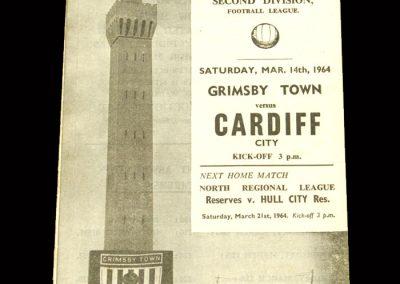Cardiff v Grimsby 14.03.1964 (postponed)