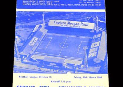 Cardiff v Newcastle 20.03.1964