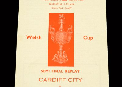 Cardiff v Newport County 25.03.1964 - Welsh Cup Semi Final Replay