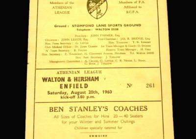 Walton v Enfield 20.08.1960