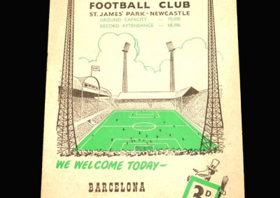 Newcastle v Barcelona 29.08.1960