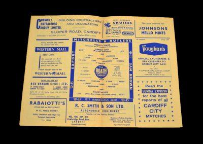 Cardiff v Scunthorpe 08.04.1964