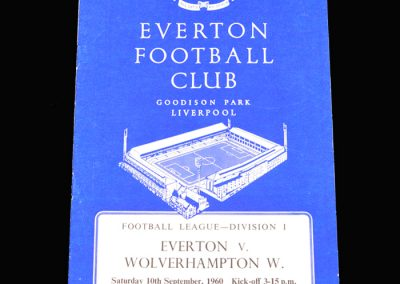 Everton v Wolves 10.09.1960