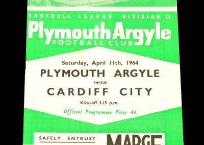 Cardiff v Plymouth 11.04.1964