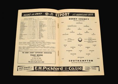 Derby v Southampton 14.09.1960