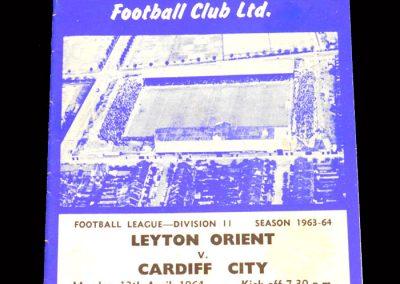Cardiff v Leyton Orient 13.04.1964
