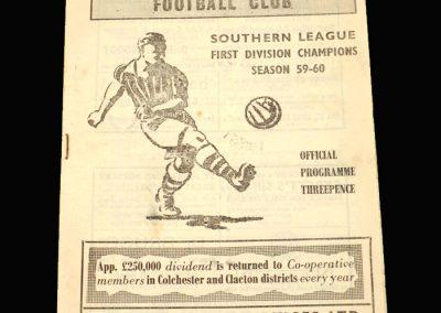 Clacton v Lowestoft 24.09.1960