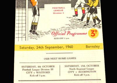 Bradford City v Barnsley 24.09.1960